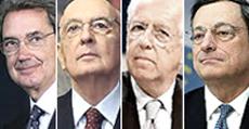 Bernabè, Napolitano, Monti e Draghi