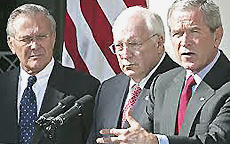 Rumsfeld, Cheney e Bush