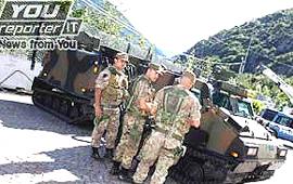 Alpini già schierati a Chiomonte contro i No-Tav