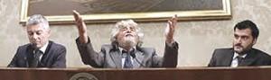 La conferenza stampa di Grillo al Senato
