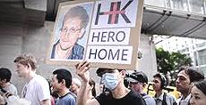 manifestazioni per Snowden
