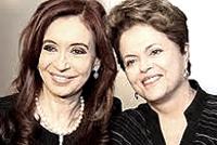 Cristina Kirchner e Dilma Roussef