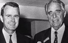 George Bush col padre Prescott