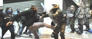 Grecia, scontri con la polizia