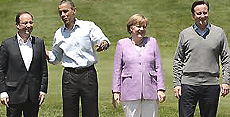 Hollande, Obama, Merkel e Cameron