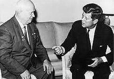 Kennedy con Khruscev