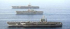 Portaerei Usa davanti alle coste siriane