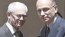 Van Rompuy e Letta