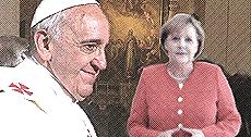 Bergoglio vs Merkel