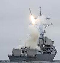 Il lancio di un missile da crociera Tomahawk