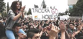 La protesta della Grecia