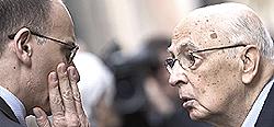 Letta e Napolitano