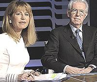 Lilli Gruber e Mario Monti