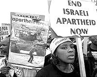 Manifestazione contro l'apartheid in Israele