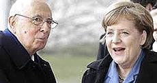 Napolitano e Merkel
