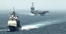 Navi Usa al largo delle coste siriane