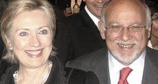 Vittorio Zucconi con Hillary Clinton