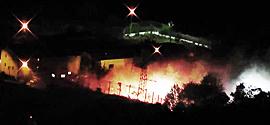 """Un """"assedio"""" notturno al cantiere di Chiomonte"""