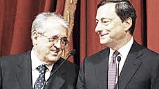 """Saccomanni e il suo """"maestro"""", Draghi"""