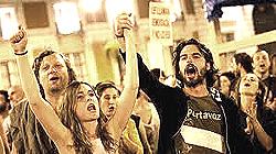 Indignados, la protesta a Madrid