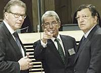Barroso coi vertici della Ert