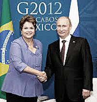 Rousseff e Putin