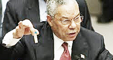 Colin Powell con le false prove contro Saddam