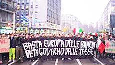 La protesta in piazza