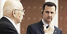 Napolitano con Assad nel 2010