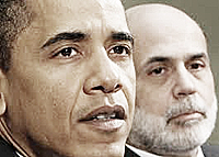Obama e Bernanke