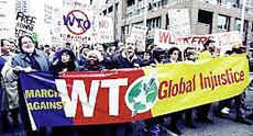 Manifestazione contro l'Organizzazione Mondiale del Commercio