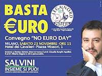 La Lega schierata contro l'euro