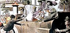 L'attentato di Sarajevo nel 1914 contro Francesco Ferdinando d'Austria