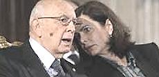 Laura Boldrini con Napolitano