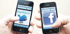 Twitter, Facebook e smartphone