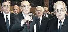 Draghi, Napolitano e Saccomanni