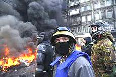 Kiev in fiamme