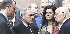 Letta, Grasso, Boldrini e Napolitano
