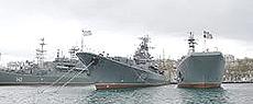 La flotta russa del Mar Nero a Sebastopoli