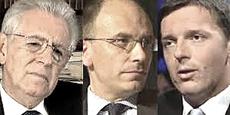 Monti, Letta e Renzi