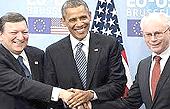 Obama con Barroso e Van Rompuy
