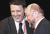Renzi e il suo euro-candidato Schulz
