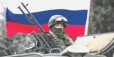 Soldato russo in Crimea