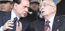 Berlusconi e Napolitano