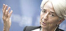 Christine Lagarde, direttrice del Fmi