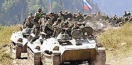 Crimea, una colonna russa