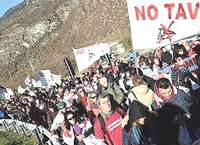 La protesta No-Tav