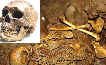 Lo scheletro rinvenuto nel nord della Spagna