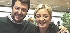Marine Le Pen con Matteo Salvini