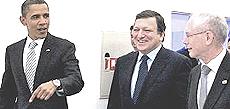 Obama con Barroso e Van Rompuy per il Ttip
